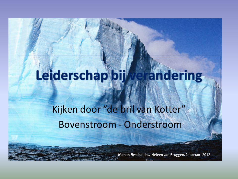 """Kijken door """"de bril van Kotter"""" Bovenstroom - Onderstroom Human Resolutions, Heleen van Bruggen, 2 februari 2012"""