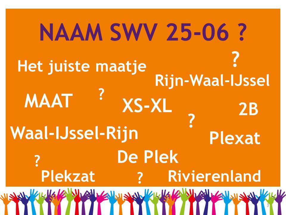 3 NAAM SWV 25-06 ? Het juiste maatje MAAT XS-XL Plexat De Plek Waal-IJssel-Rijn Rivierenland Rijn-Waal-IJssel Plekzat 2B ? ? ? ? ?