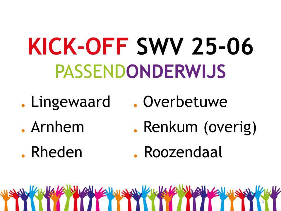 5 KICK-OFF SWV 25-06 PASSENDONDERWIJS. Lingewaard. Overbetuwe. Arnhem. Renkum (overig). Rheden. Roozendaal