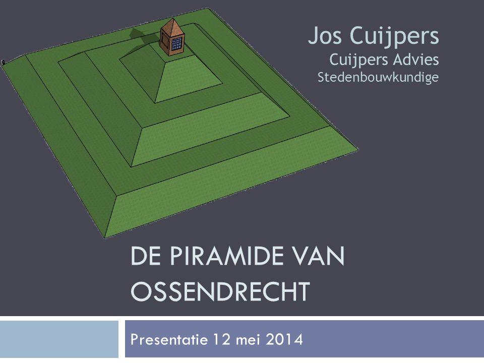 DE PIRAMIDE VAN OSSENDRECHT Presentatie 12 mei 2014 Jos Cuijpers Cuijpers Advies Stedenbouwkundige