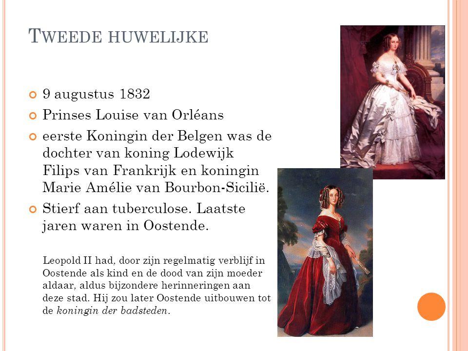E ERSTE HUWELIJK 2 mei1816 Augusta Charlotte Britse prinses Dochter van de kroonprins uit Wales In 1817 zwanger