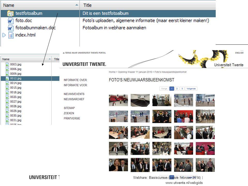 fotoalbum 24 Webhare: Basiscursus (versie februari 2014) | www.utwente.nl/webgids