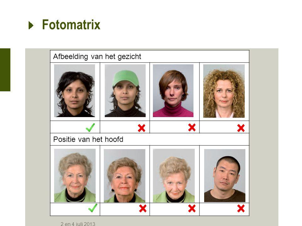 Bril Positie van het hoofd Fotomatrix 2 en 4 juli 2013