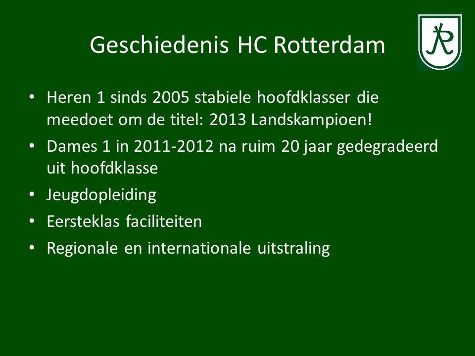 HC Rotterdam in 2013 • Ca.675 mini's en kabouters spelend in 76 teams en trainingsgroepen • Ca.