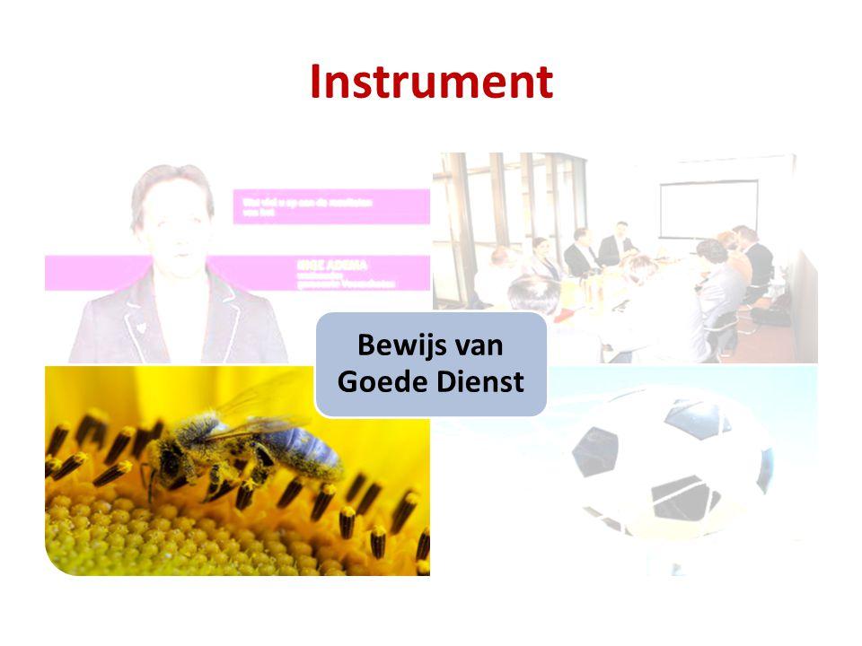 Instrument Bewijs van Goede Dienst