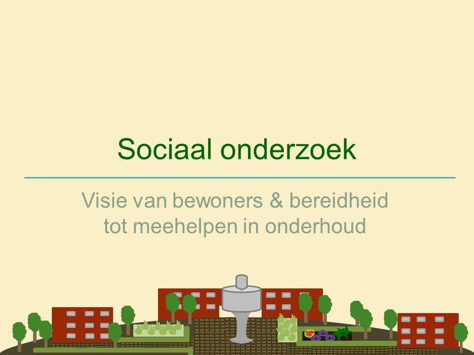 Sociaal onderzoek Visie van bewoners & bereidheid tot meehelpen in onderhoud