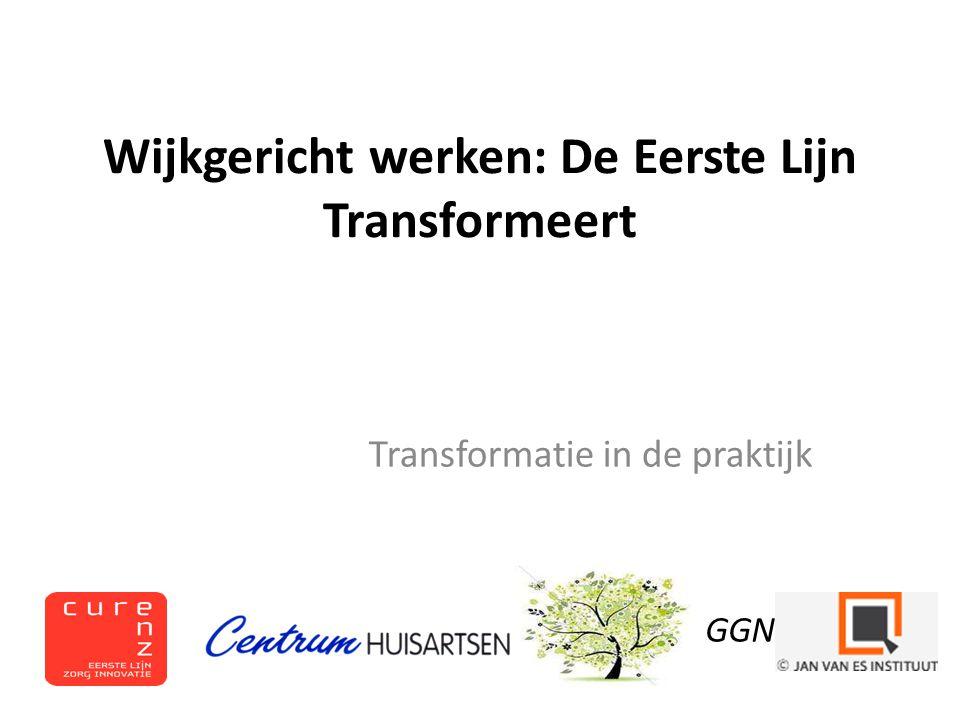 Wijkgericht werken: De Eerste Lijn Transformeert Transformatie in de praktijk GGN