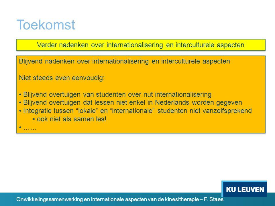 Onwikkelingssamenwerking en internationale aspecten van de kinesitherapie – F.