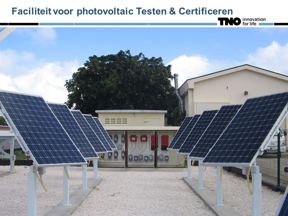 16 Faciliteit voor photovoltaic Testen & Certificeren 16