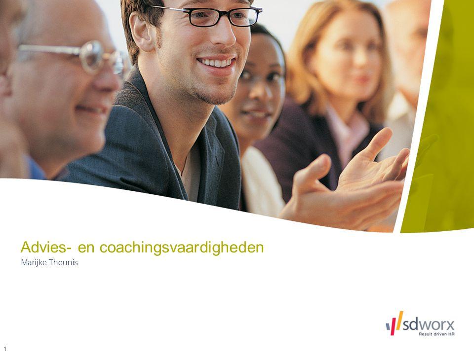 Advies- en coachingsvaardigheden Marijke Theunis 1
