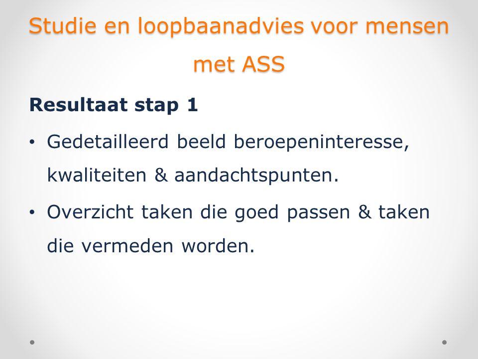Studie en loopbaanadvies voor mensen met ASS • Overzicht van randvoorwaarden voor goed functioneren.