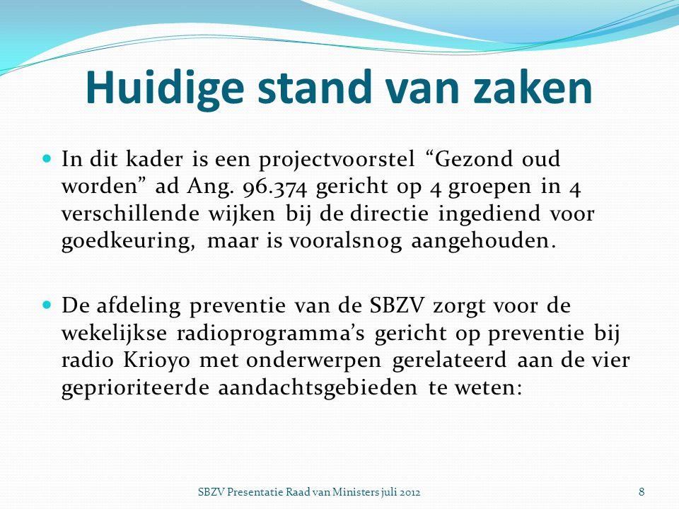 Knelpunt  Het begrotingstekort welke U in bijgaand overzicht wordt aangeboden heeft een stagnatie van de uitbouw van de SBZV tot een preventiecentrum tot gevolg.