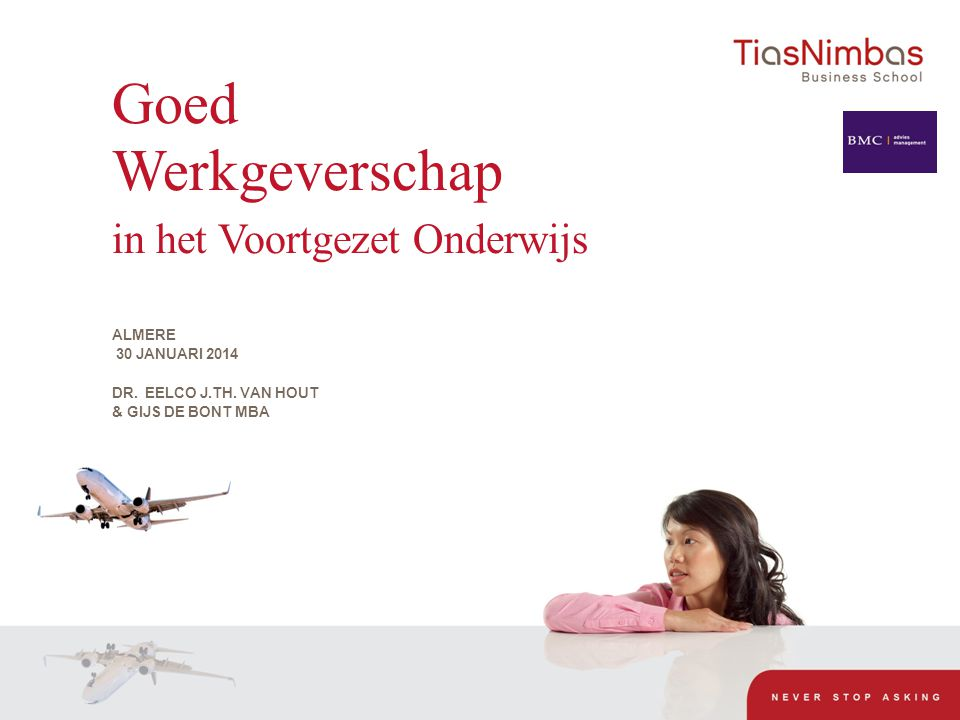 Academic Director TiasNimbas Masterclass Cyclus Non-Profit Financieel Leiderschap in het Onderwijs Stichting Onderwijs Midden-Limburg en verbonden aan: Excecutive.