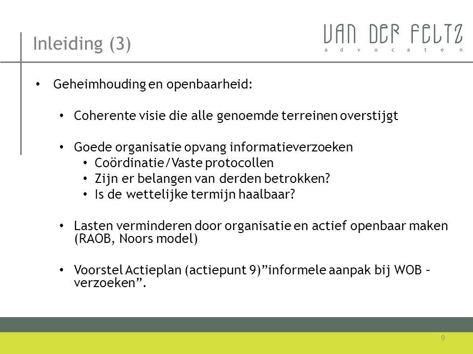 Openbaarheid en bestuur • Raadsvergaderingen in beginsel openbaar (art.