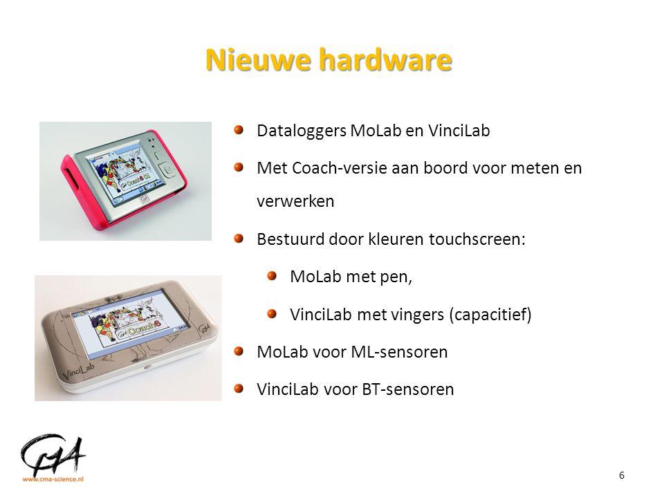 6 Nieuwe hardware Dataloggers MoLab en VinciLab Met Coach-versie aan boord voor meten en verwerken Bestuurd door kleuren touchscreen: MoLab met pen, V