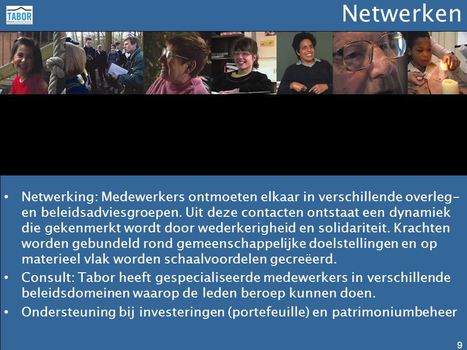Netwerken • Netwerking: Medewerkers ontmoeten elkaar in verschillende overleg- en beleidsadviesgroepen. Uit deze contacten ontstaat een dynamiek die g