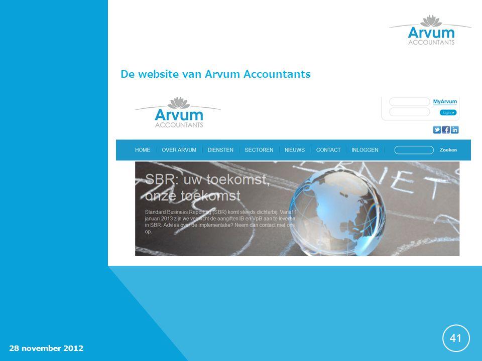 41 De website van Arvum Accountants 28 november 2012