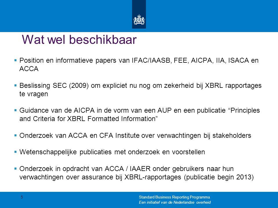 Wat wel beschikbaar  Position en informatieve papers van IFAC/IAASB, FEE, AICPA, IIA, ISACA en ACCA  Beslissing SEC (2009) om expliciet nu nog om ze