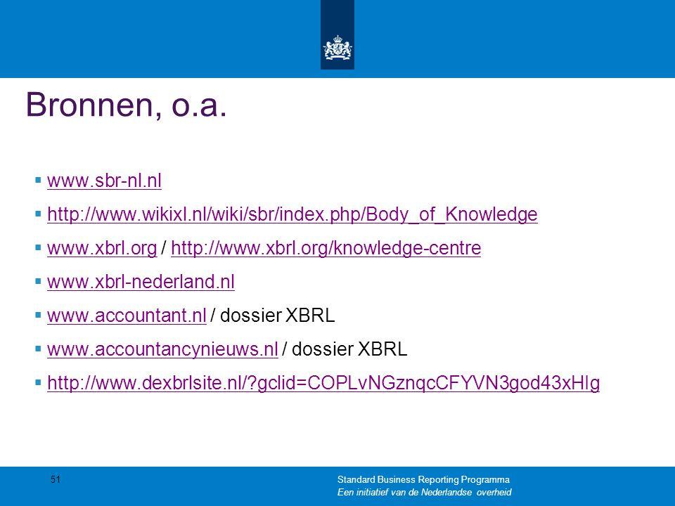 Bronnen, o.a.  www.sbr-nl.nl www.sbr-nl.nl  http://www.wikixl.nl/wiki/sbr/index.php/Body_of_Knowledge http://www.wikixl.nl/wiki/sbr/index.php/Body_o