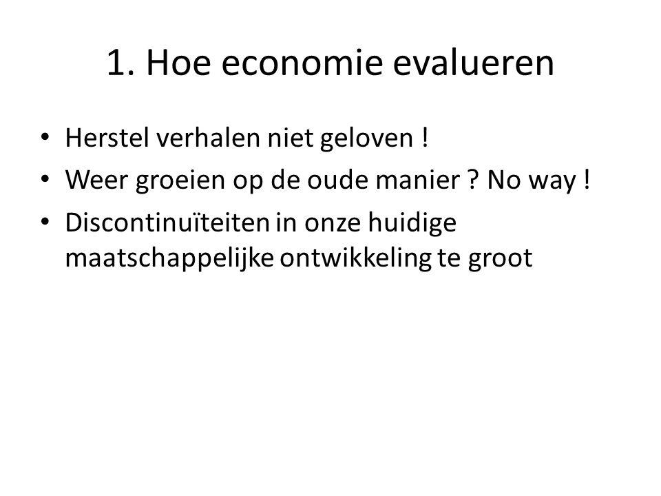 1. Hoe economie evalueren • Herstel verhalen niet geloven .