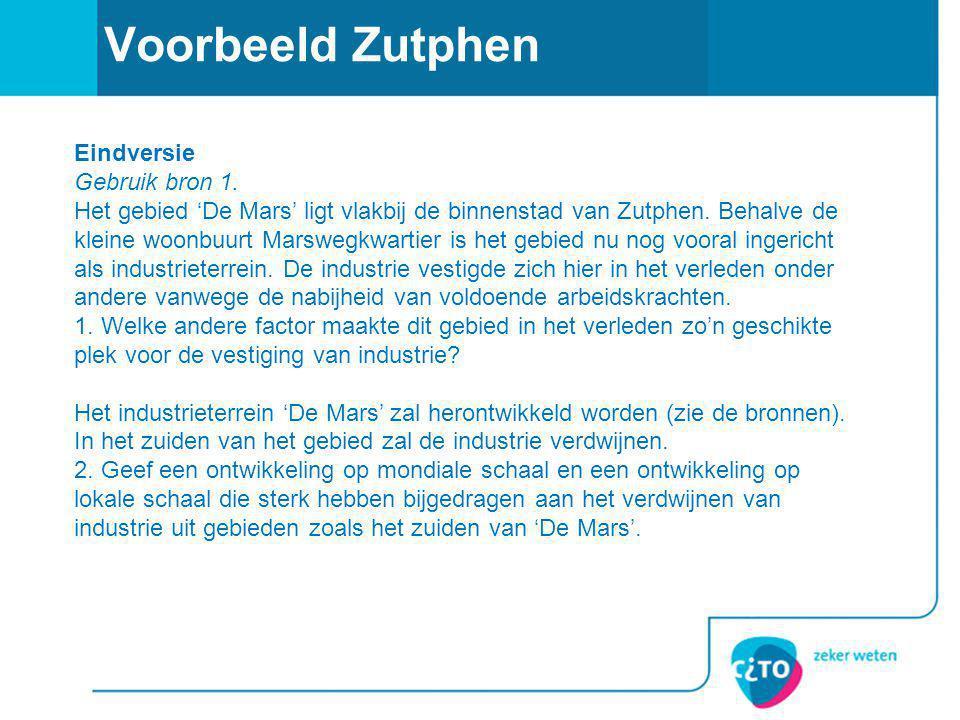 Voorbeeld Zutphen Eindversie Gebruik bron 1.