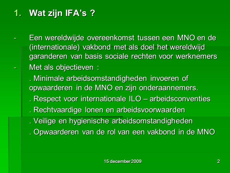 2 1. Wat zijn IFA's .