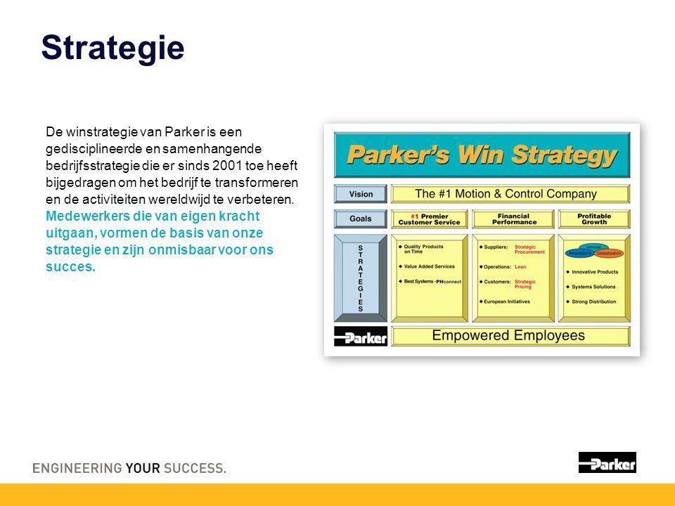 Strategie De winstrategie van Parker is een gedisciplineerde en samenhangende bedrijfsstrategie die er sinds 2001 toe heeft bijgedragen om het bedrijf te transformeren en de activiteiten wereldwijd te verbeteren.