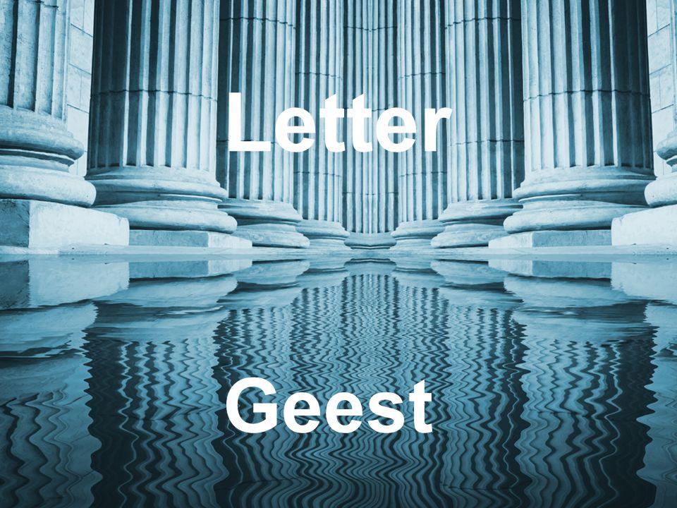 5 DNB Titel / Gelegenheid Letter Geest