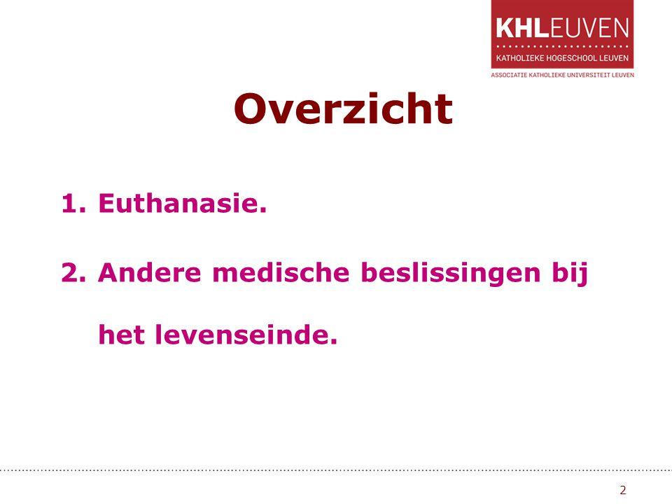 Euthanasie en relevante wetten.1.Wet betreffende de euthanasie dd.