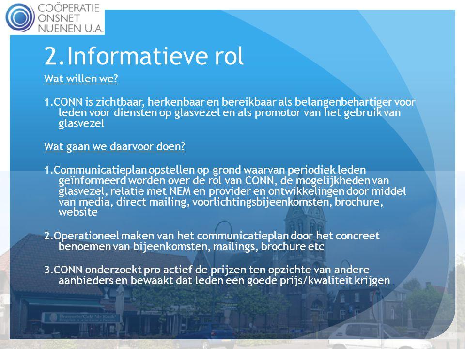 2.Informatieve rol Wat willen we.