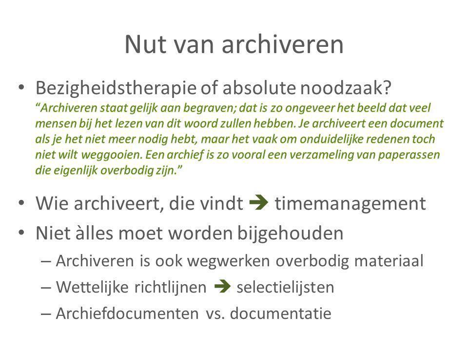 Archiveren: waarover gaat het (niet).
