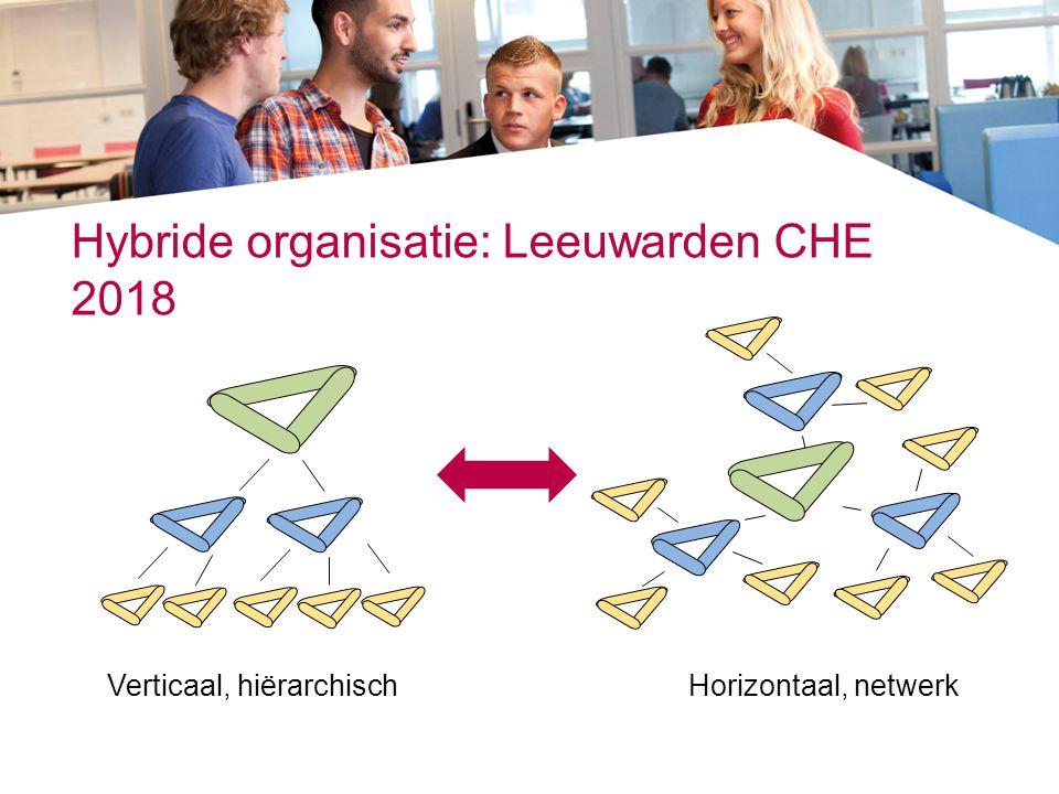 Hybride organisatie: Leeuwarden CHE 2018 Verticaal, hiërarchischHorizontaal, netwerk
