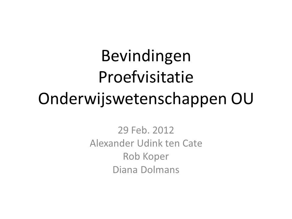 Bevindingen Proefvisitatie Onderwijswetenschappen OU 29 Feb.