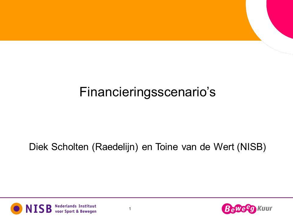 1 Financieringsscenario's Diek Scholten (Raedelijn) en Toine van de Wert (NISB)