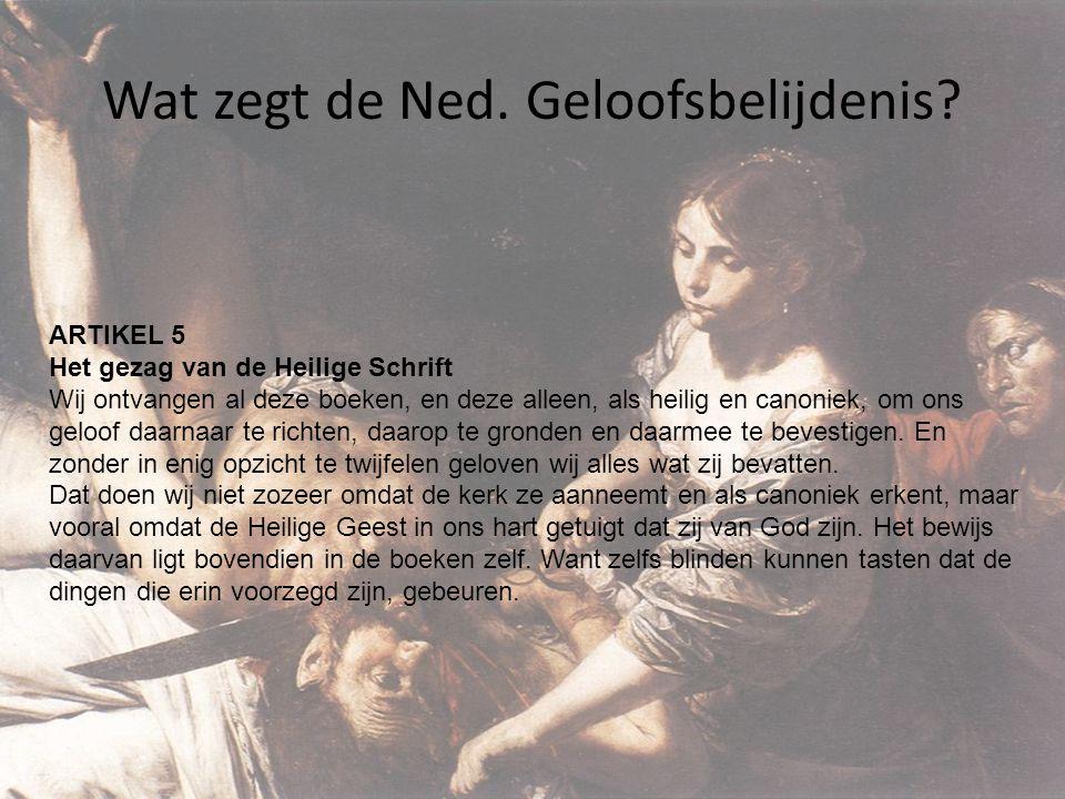 Wat zegt de Ned.Geloofsbelijdenis.
