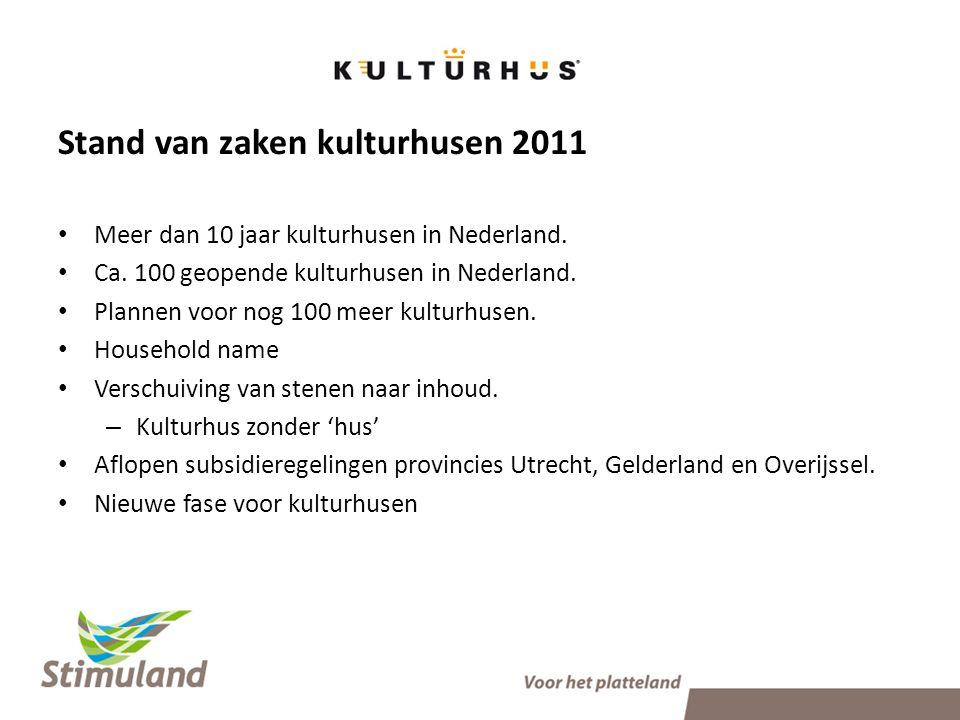 Stand van zaken kulturhusen 2011 • Meer dan 10 jaar kulturhusen in Nederland.