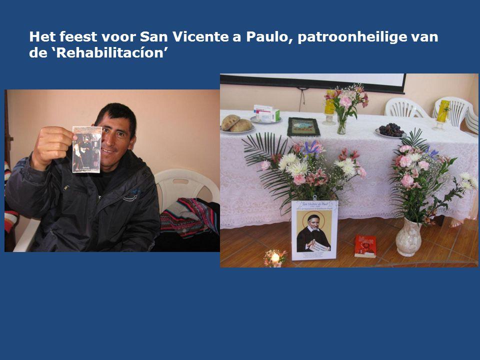 Het feest voor San Vicente a Paulo, patroonheilige van de 'Rehabilitacíon'