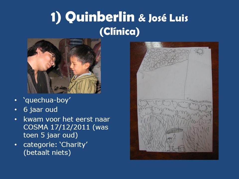 1) Quinberlin & José Luis (Clínica) • 'quechua-boy' • 6 jaar oud • kwam voor het eerst naar COSMA 17/12/2011 (was toen 5 jaar oud) • categorie: 'Chari