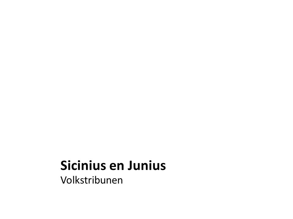 Sicinius en Junius Volkstribunen