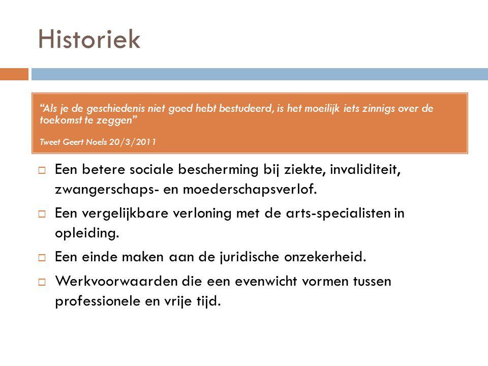 """Historiek """"Als je de geschiedenis niet goed hebt bestudeerd, is het moeilijk iets zinnigs over de toekomst te zeggen"""" Tweet Geert Noels 20/3/2011  Ee"""