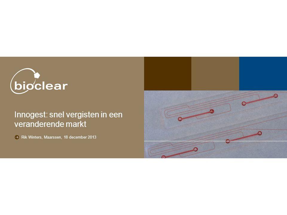 Subtitel Rik Winters, Maarssen, 18 december 2013 Innogest: snel vergisten in een veranderende markt