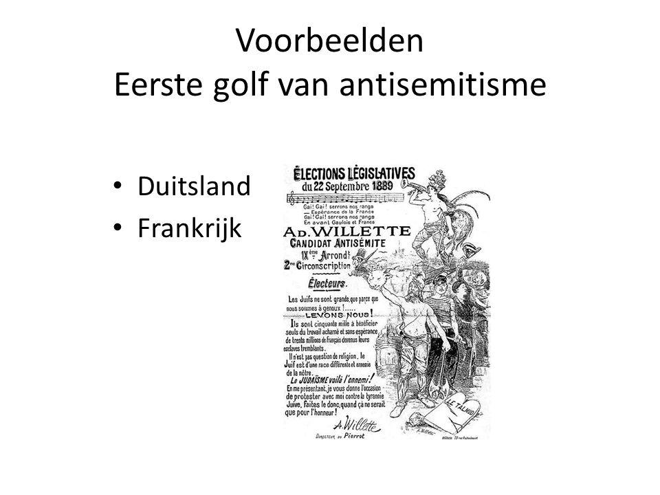 Voorbeelden Eerste golf van antisemitisme • Duitsland • Frankrijk