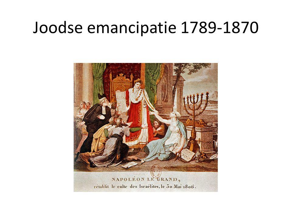 • Voorafgaand aan de emancipatie hadden Joden vaak restricties: – Geen volledig burgerschap – Niet naar de universiteit – Veel steden verboden toegang voor Joden – Bepaalde beroepen als advocaat niet toegankelijk voor Joden