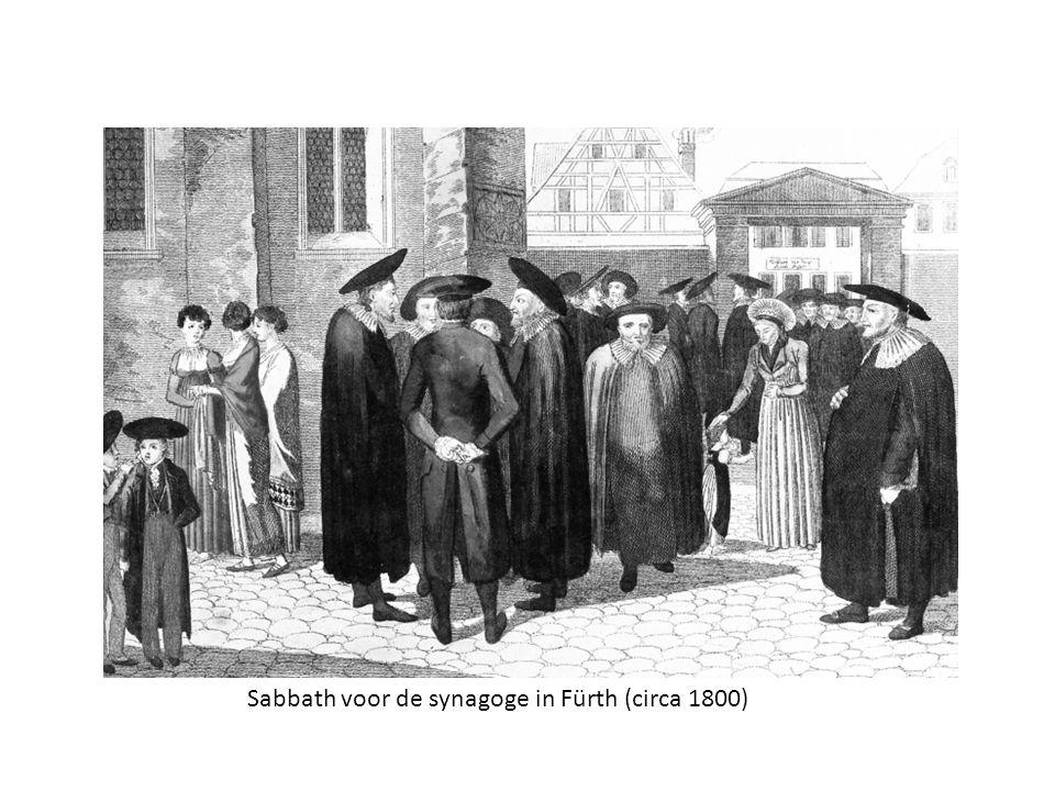 Sabbath voor de synagoge in Fürth (circa 1800)