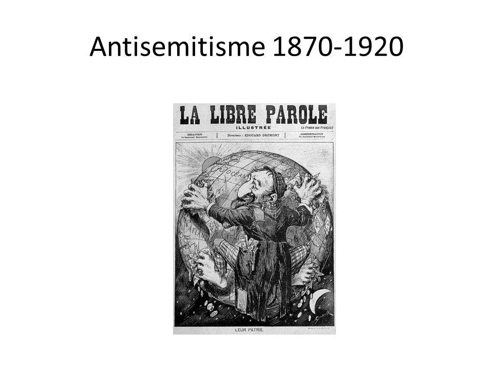 Voorbeelden Eerste golf van antisemitisme • Frankrijk 1894-1906 – De Dreyfusaffaire.