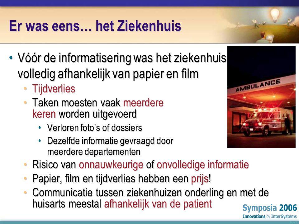 Slide 3 Informatisering betekent Besparing •Middelgroot interuniversitair ziekenhuis « CHU Ambroise Paré » in Mons (België) heeft de stap naar een complete informatisering gemaakt •(Bijna) geen papier of film meer – alles elektronisch.