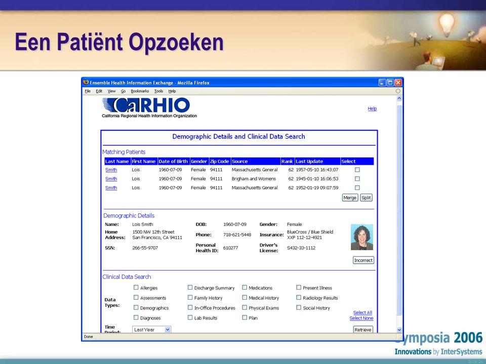 Slide 24 Een Patiënt Opzoeken