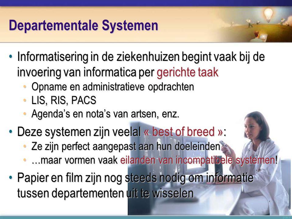 Slide 15 Stand van Zaken Vandaag in Nederland •De zorgsector in Nederland is één van de meest geïnformatiseerde in Europa (source: HINE 2006) •Zeer hoge aanwezigheid van EPD systemen: 91.8% •Zeer hoog geavanceerdheids pattern •Zeer hoge ratio staff/scherm (2.21) en scherm/bed (1.83) •Zeer hoog gemiddelde ratio begroting ICT/algemeen (3.3%) •Nederland is onderweg het 1ste land ter wereld te worden met een werkend nationaal EPD systeem: het LSP •Enkel de UK is vóór Nederland begonnen – maar is nog steeds niet klaar voor productie