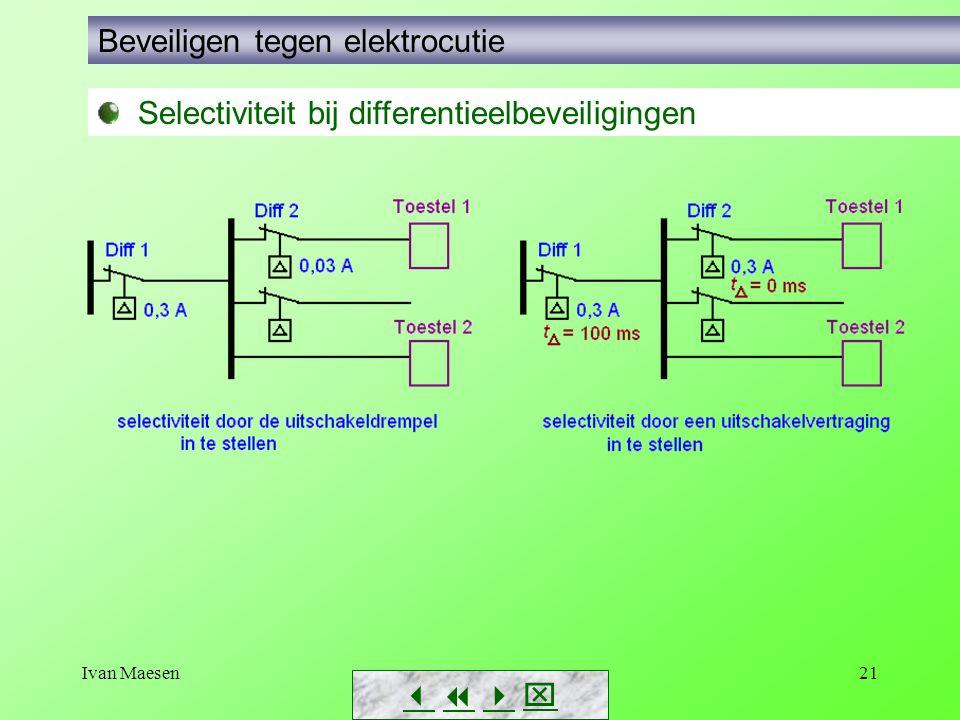 Ivan Maesen21        Beveiligen tegen elektrocutie Selectiviteit bij differentieelbeveiligingen