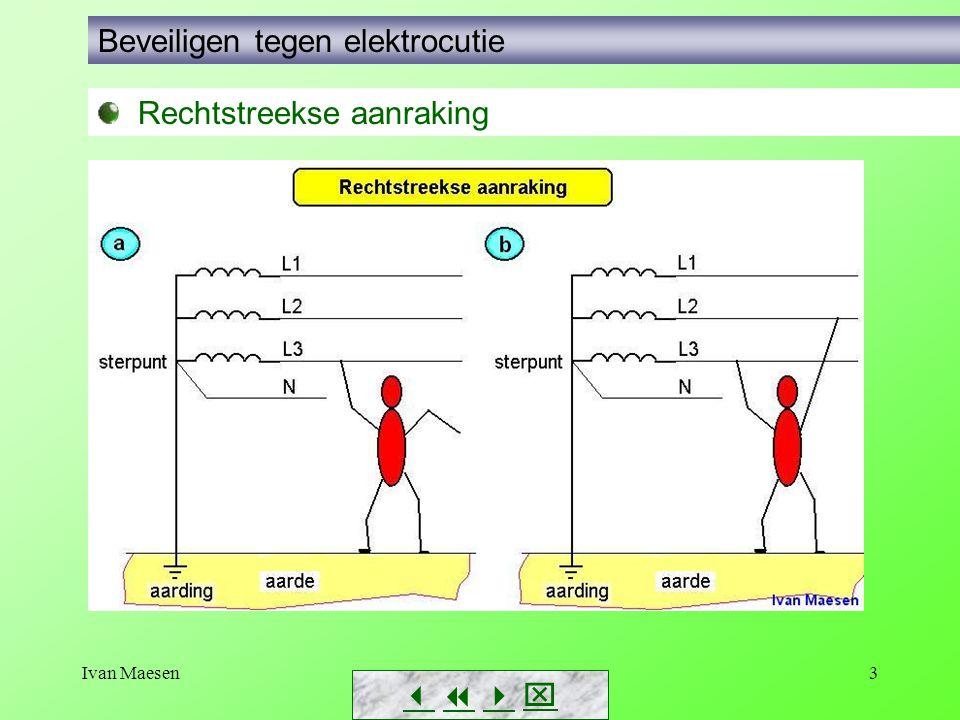 Ivan Maesen14        Beveiligen tegen elektrocutie Beveiligen met beschermingsgeleider Uitvoering van de PE-geleider in een installatie: